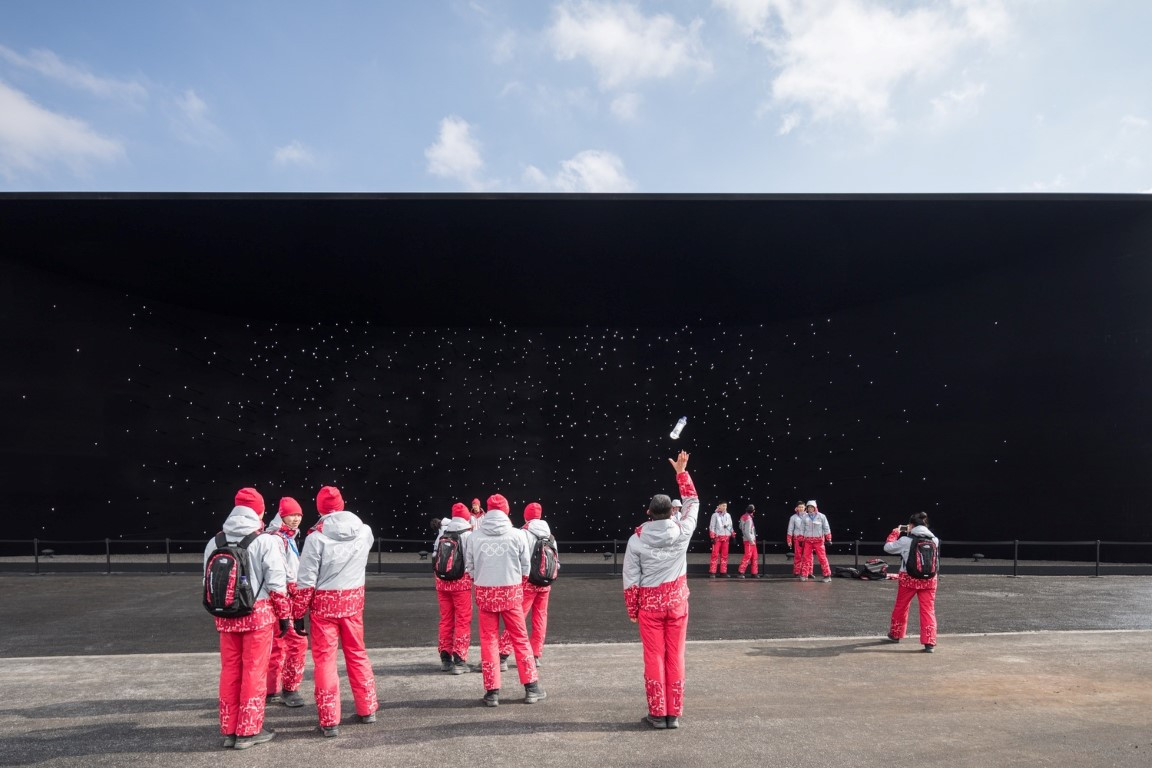 Project: The Vantablack Pavilion, Pyeongchang, South Korea by Asif KhanPhotographer: Laurian Ghinitoiu