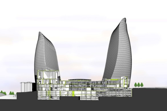 Baku Flame Towers | HOK