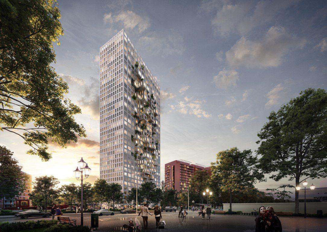 MVRDV's Tirana Tower forms a Pixelated Map of Albania-igs magazine-news-2
