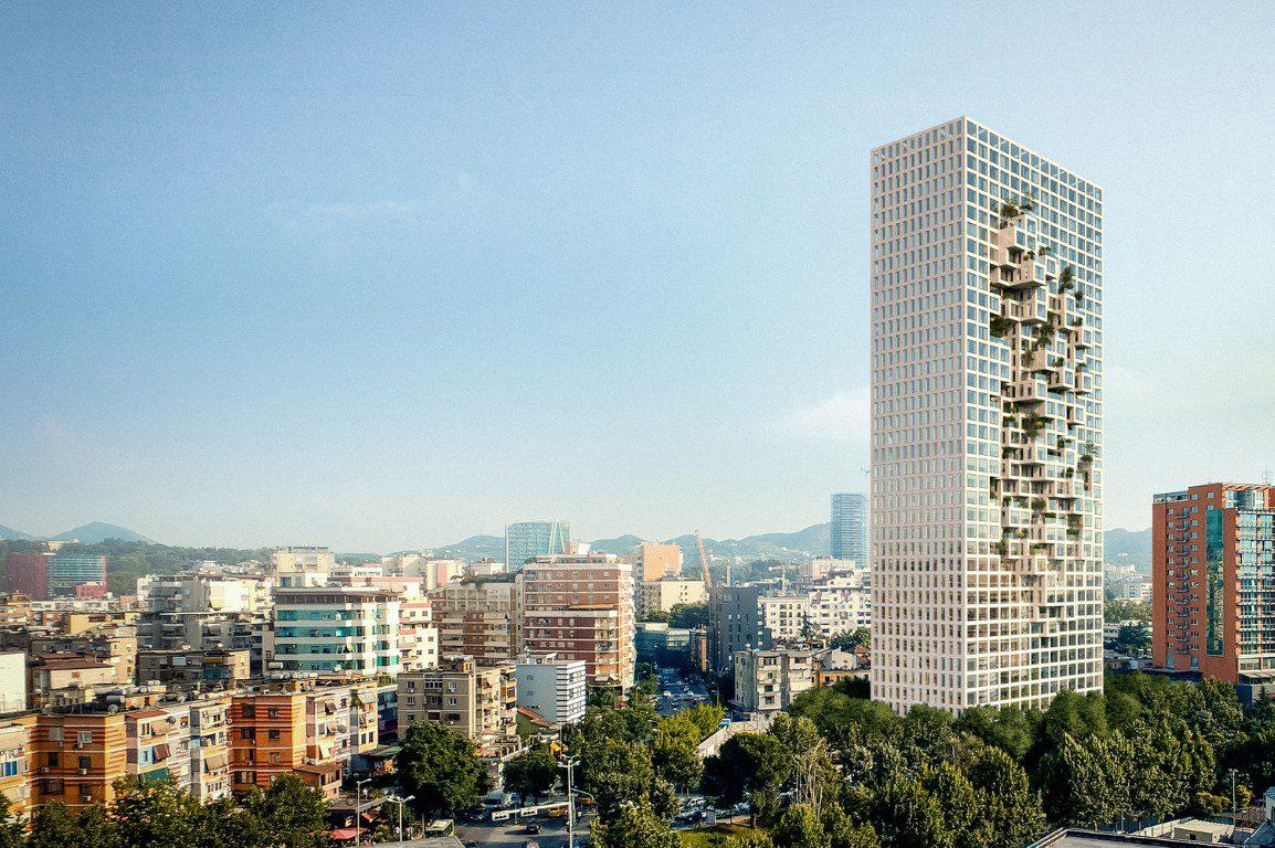 MVRDV's Tirana Tower forms a Pixelated Map of Albania-igs magazine-news-5
