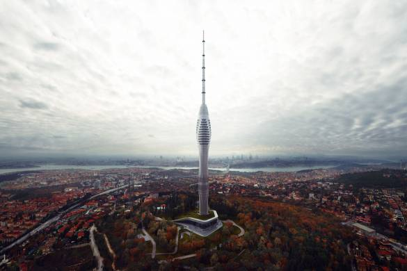 Istanbul's Futuristic Supertall TV Tower Nears Completion 2