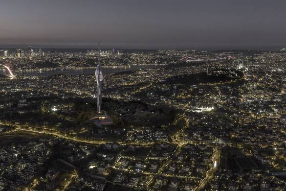 Istanbul's Futuristic Supertall TV Tower Nears Completion 8