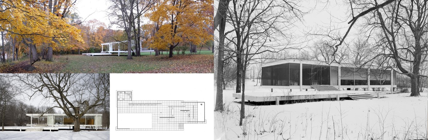 Fig: Mies Van der Rohe: Farnworth House 1950 Plato Illinois