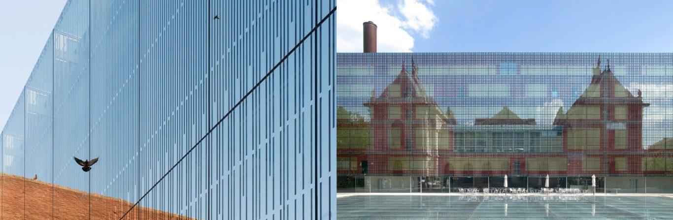 Fig: Ecole de Musique Louviers – Opus 5 architectes / Beaux Arts Museum Lille. Architect Marc Ibos