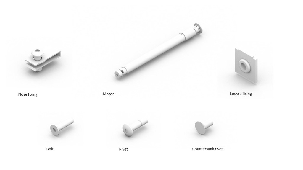 Secondary fixtures modelled in Solidworks