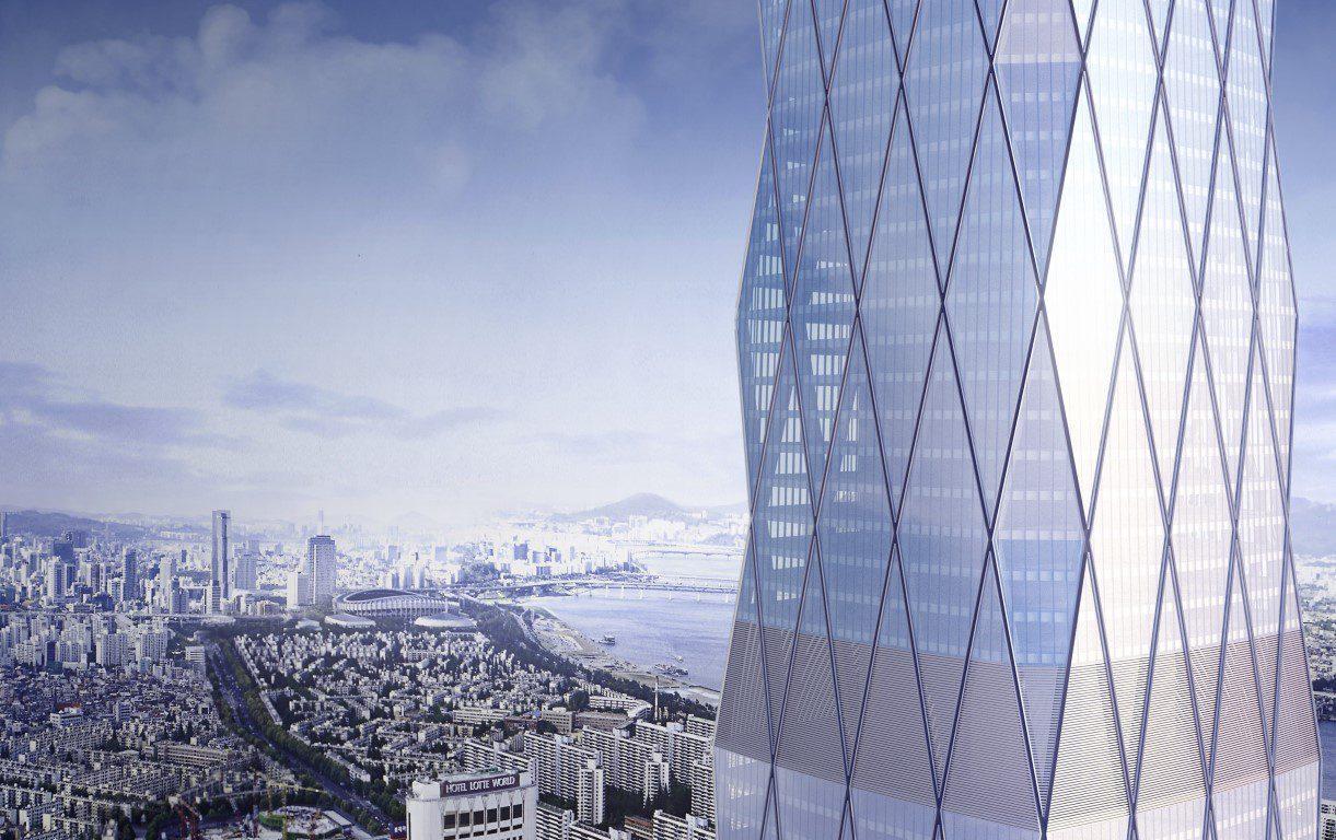 Visualizing the unbuilt Lotte Super Tower for Seoul, South Korea. Images © SOM