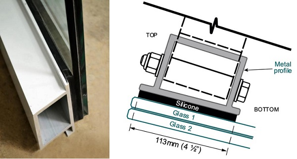Fig. 3: Custom Metal Glazed Profile