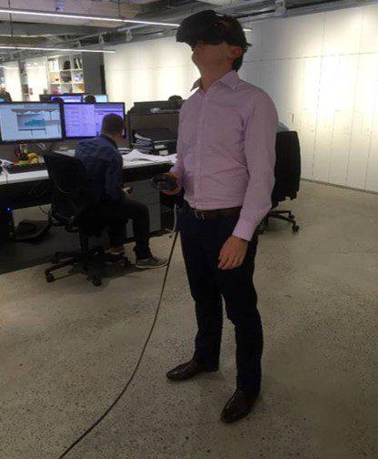 Figure 12: Immersive VR walkthrough with client