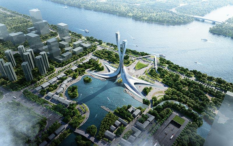 Xiangjiang-Gate-Aerial-View