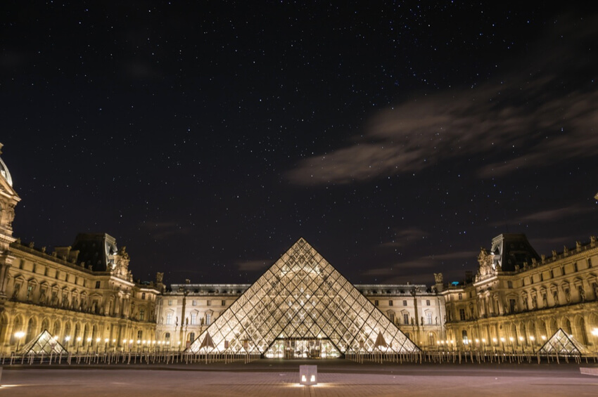 Architectural glass in at the Louvre Pyramid