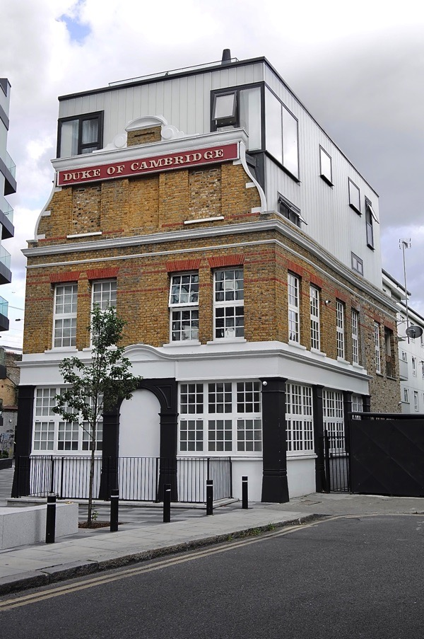 Figure 2: The Duke of Cambridge in London received much criticism for its haphazard facadism. Credit: The Gentle Author [1]