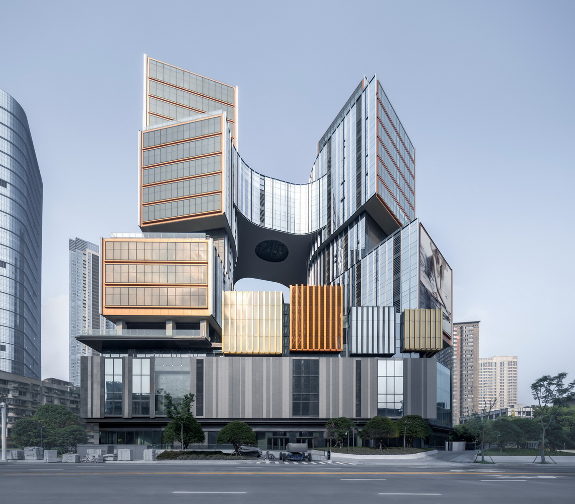 East view of the project. Image Courtesy of Aedas