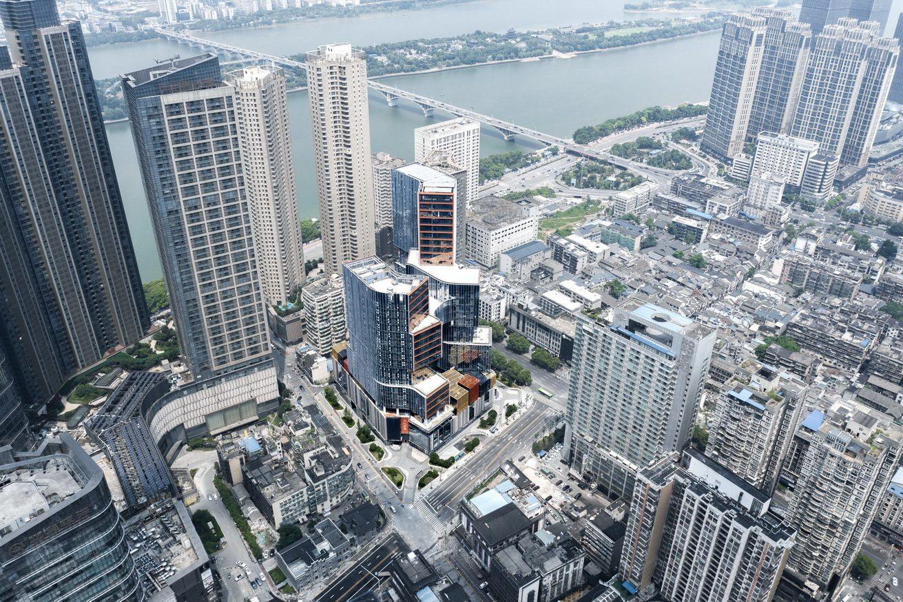 Aerial View. Image Courtesy of Aedas