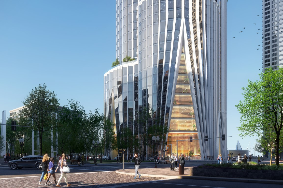 KPF and The Chiofaro Company Unveil Boston Harbor Tower, The Pinnacle at Central Wharf