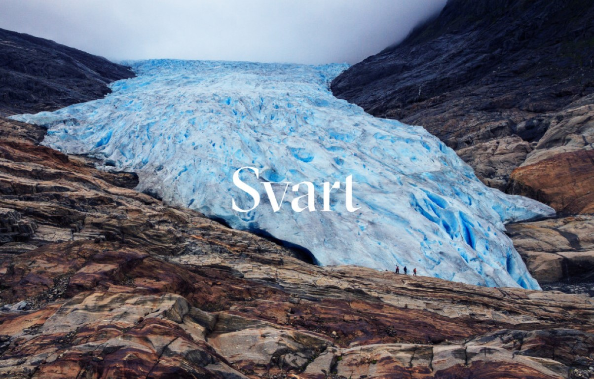 The website delves into the architecture, the arctic location and the varied nature experiences of Svartisen.