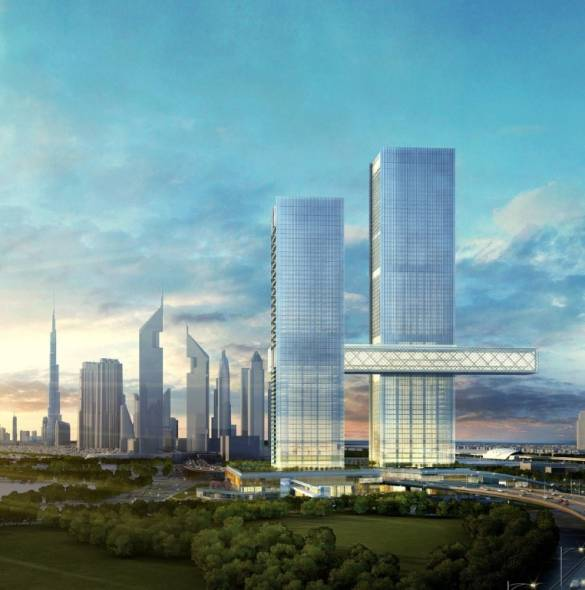 Dubai's Under Construction One Za'abeel Tower Holds the Longest Cantilever in the World