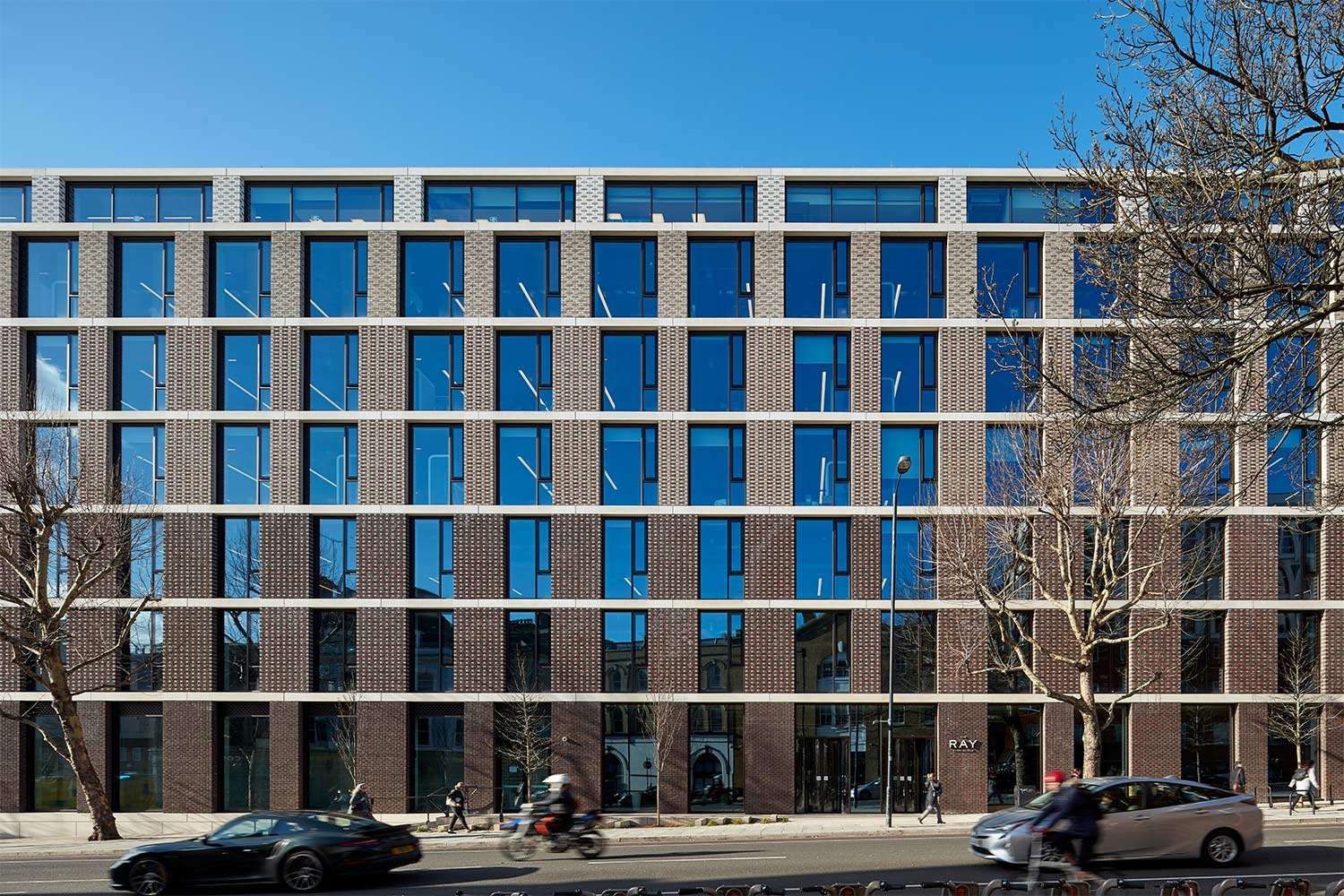One of the projects Charis has recently worked on is The Ray. Facades design helped reinvigorate the old site and provide new high quality office and commercial space. Image: Rob Parrish Photography