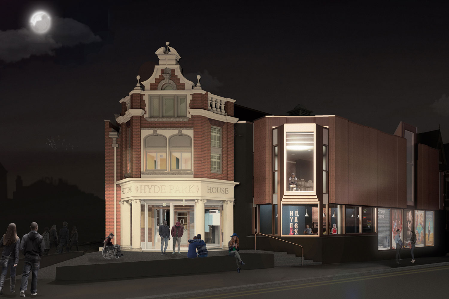 The project will see the Picture House to reclaim its place as a vibrant heart within the local community. Image: Page \ Park Architects
