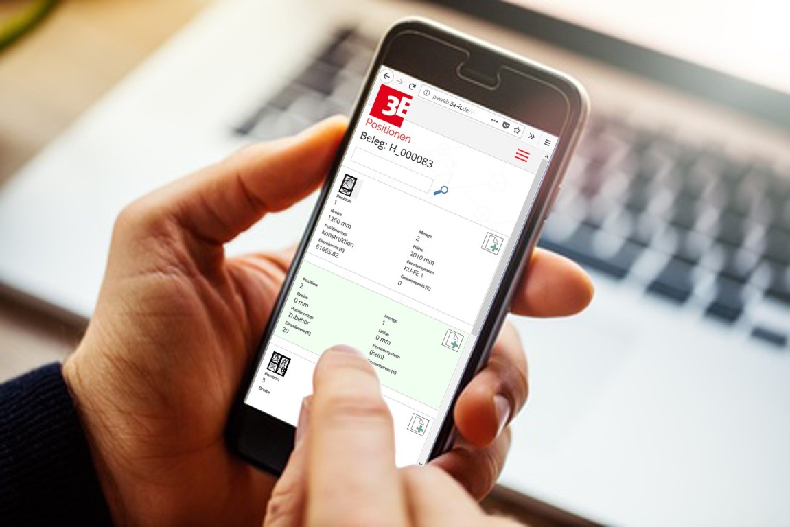 The field service team is also connected to the digitalised company via an App. Photo: 3E Datentechnik GmbH