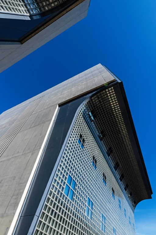 Unique glass brick facade - high geometric complexity.