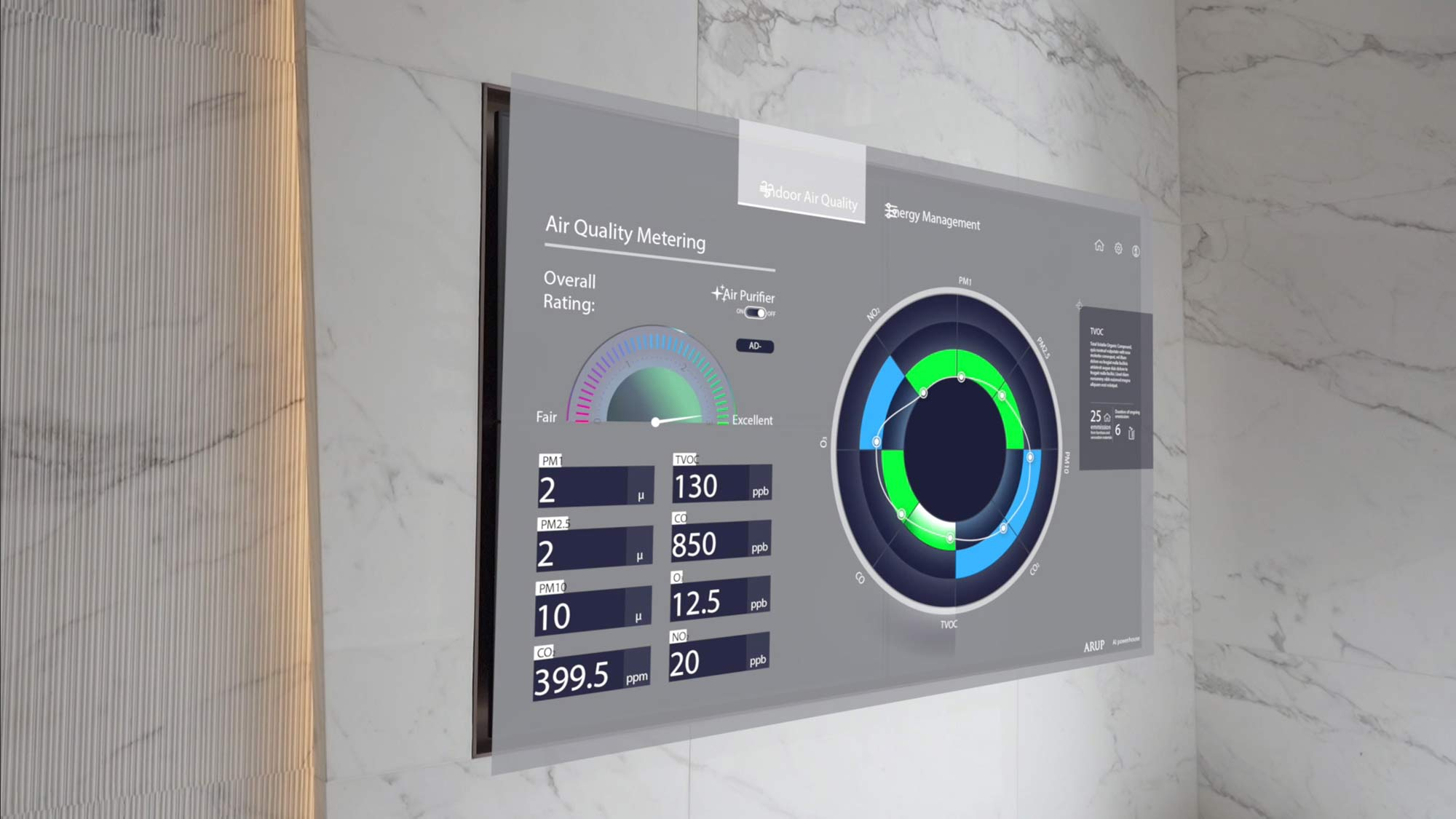 Dynamic air quality data analytic and display