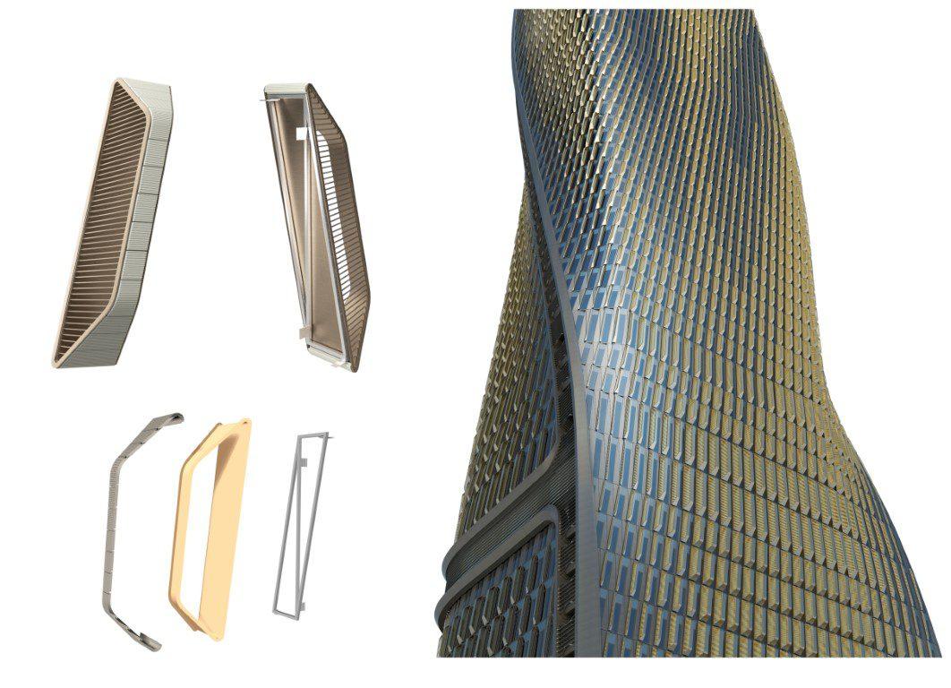 UNStudio - Wasl Tower_Ceramic solar shading system