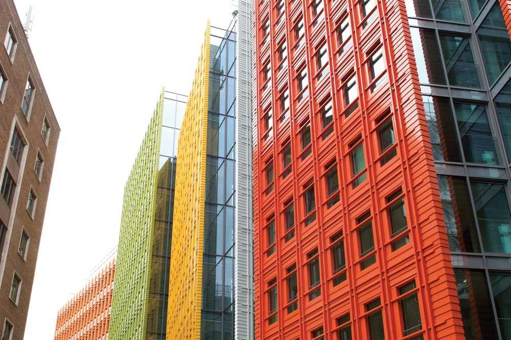 Central Saint Giles bringing colour and life to the streetscape of London