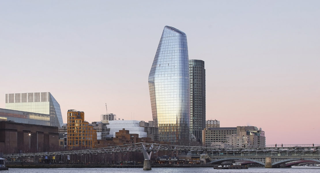One Blackfriars, a striking new building for London. Image © Hufton + Crow