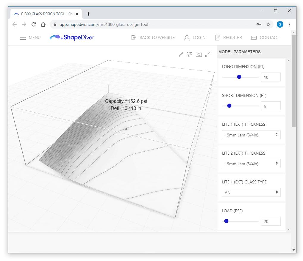 [12] Web based glass design tool (3-dimentional glass makeup capacity)