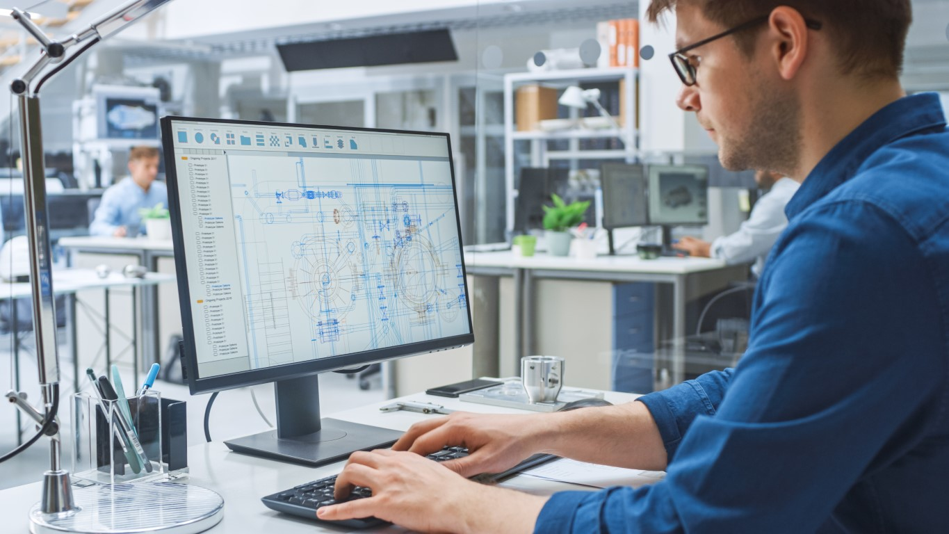 The majority of façade engineers are still operating in Façade Engineering 2.0 – designing with CAD. Credit: Adobe Stock