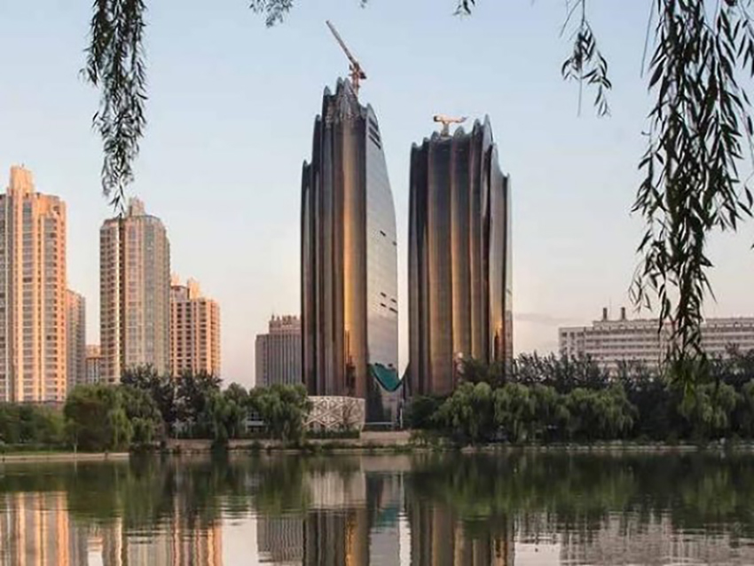 Figure 1 Chaoyang park plaza construction completed.
