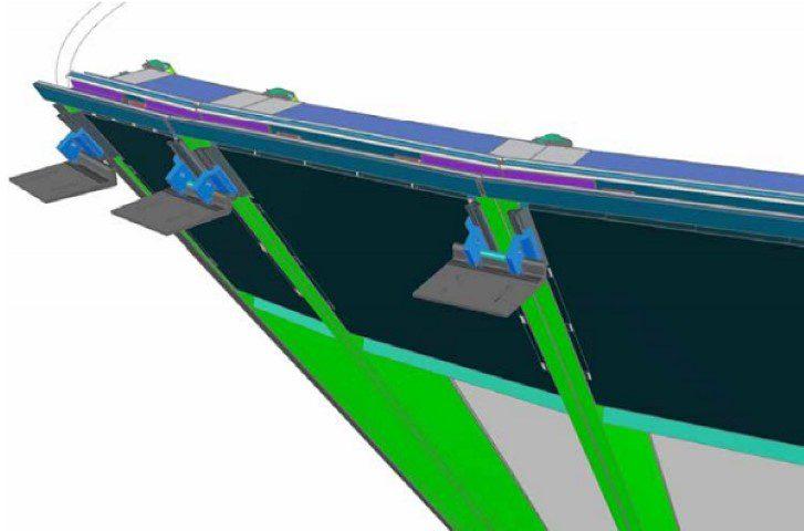 Figure 21 – BIM partial model of unitized façade