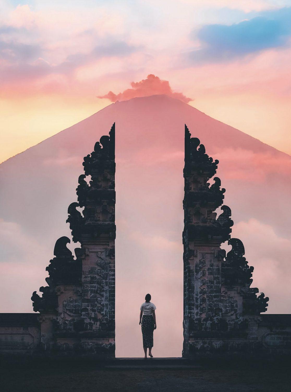 "The ""Gates of Heaven"", Lempuyang Temple, Bali (built around 91 AD)"