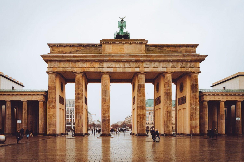The Brandenburg Gate, built in 1791 in Berlin, Germany