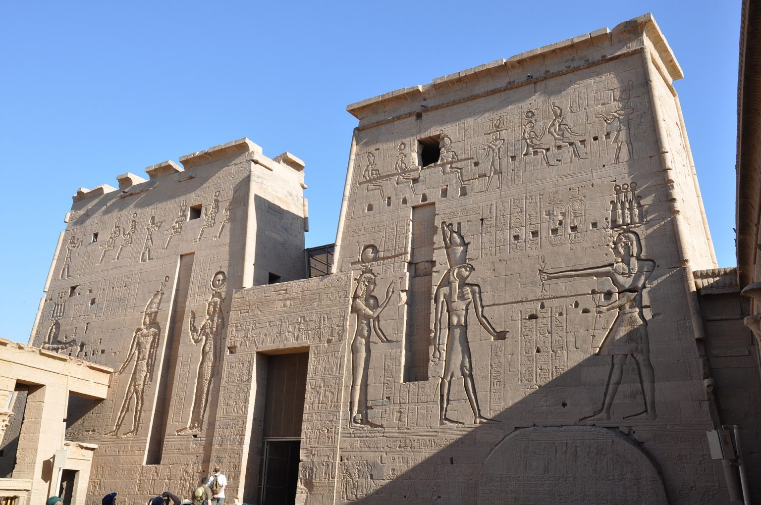 The Entrance to the Inner Temple of Philae, Egypt (built between 380 BC and 362 BC)