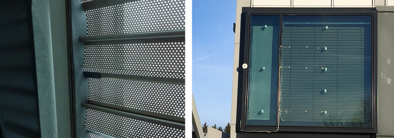 Figure 10: ACT Facade as venetian blind system at Fraunhofer IBP test-stand (© Fraunhofer IBP)