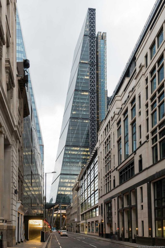 122 Leadenhall - 'The Cheesegrater', London, The United Kingdom. (Photo Rubin and Sampford Photography
