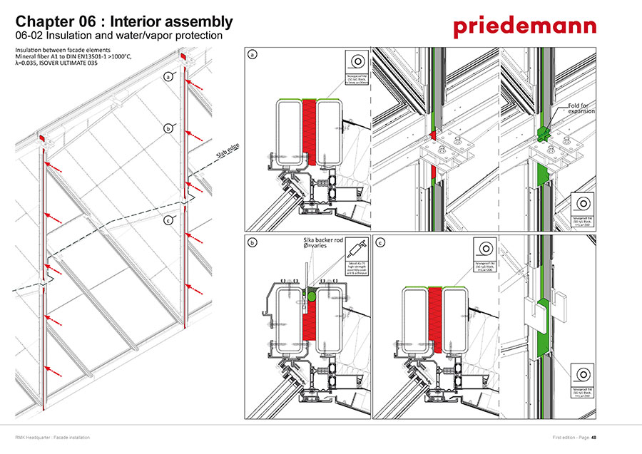 Snapshot from the assembly manual showing the exact order in which each part fits the next (Manual by Priedemann)