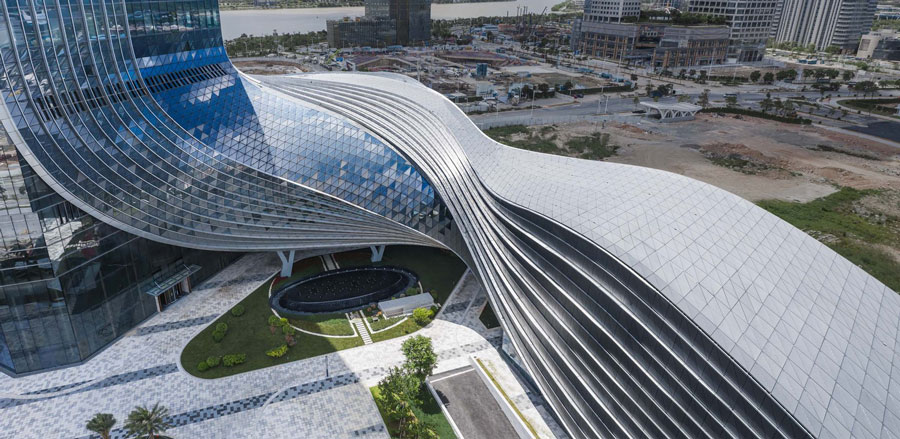 perfectly realised three-dimensional curve. Image Courtesy of Aedas
